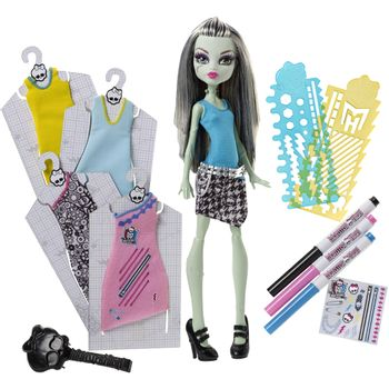 set-de-diseño-muñeca-monster-high-frankie-stein-mattel-dnm27
