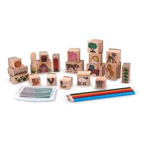 set-de-arte-sellos-granja-melissa-and-doug-md8592