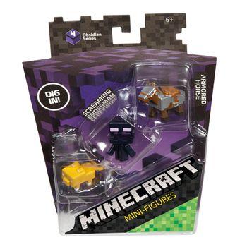 set-de-3-minifiguras-minecraft-mattel-dkd57
