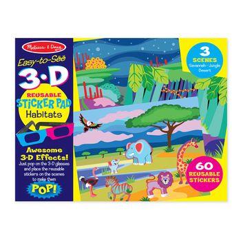 set-de-arte-stickers-3d-reusables-animales-melissa-and-doug-md9376