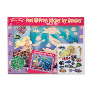 set-de-arte-stickers-sirena-y-peces-melissa-and-doug-md4297