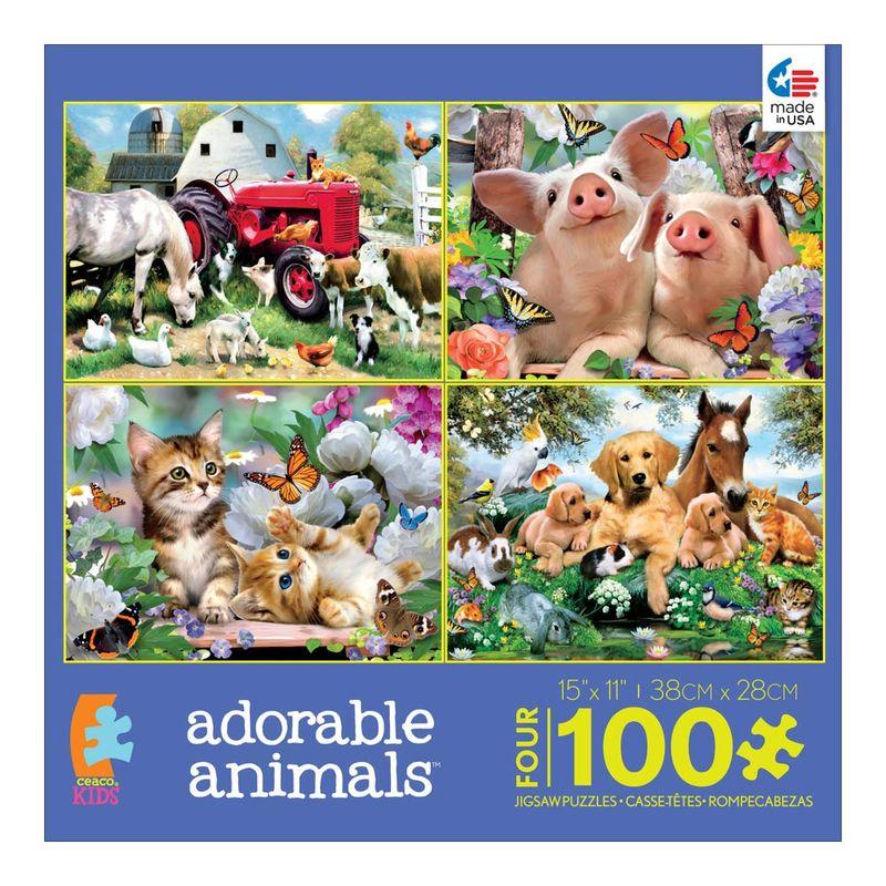 set-de-4-rompecabezas-adorable-animals-ceaco-cea31011