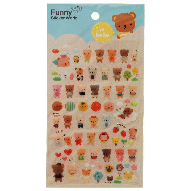 stickers-baby-bears-iwako-39799