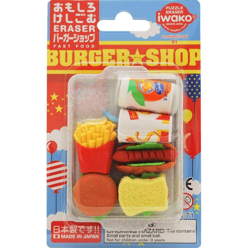 set-borradores-fast-food-iwako-ER961099