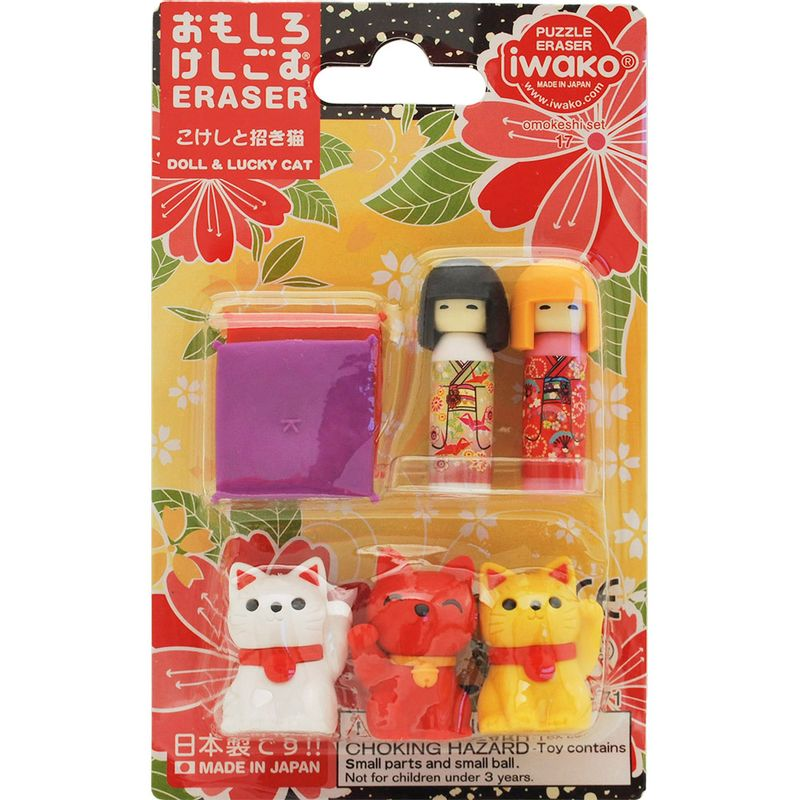 set-borradores-doll-y-lucky-cat-iwako-ERBRI020