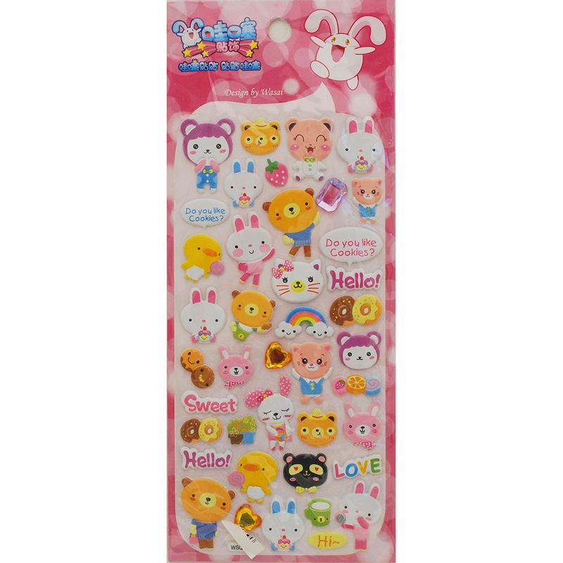 stickers-cookie-animal-iwako-WSQE014