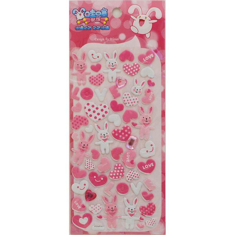 stickers-rabbit-heart-iwako-WSQE021