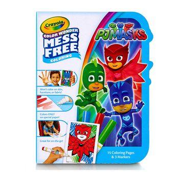 set-libro-para-colorear-y-marcadores-pj-masks-crayola-750152