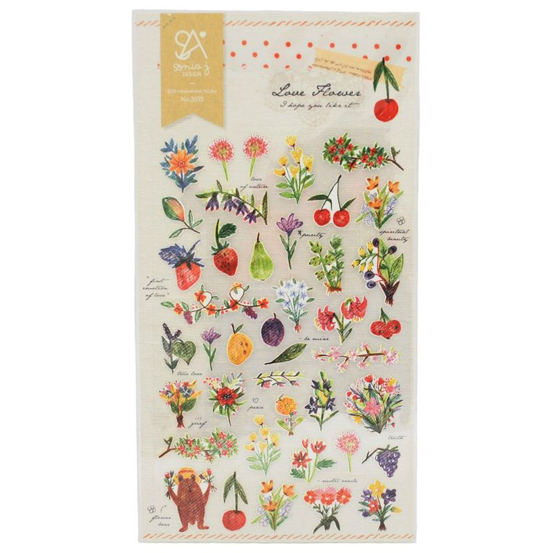 stickers-love-flower-iwako-iw2035