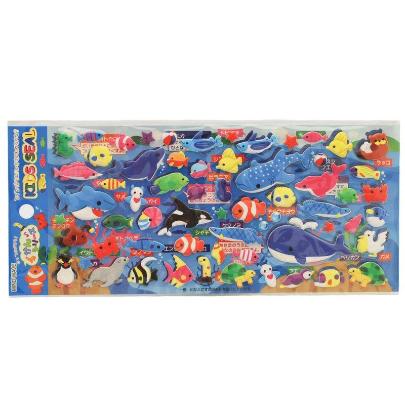 stickers-animales-acuaticos-iwako-iw1139