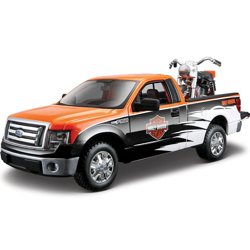 set-vehiculos-coleccion-1958-flh-duo-glide-y-2010-ford-f150-pickup-maisto-32173