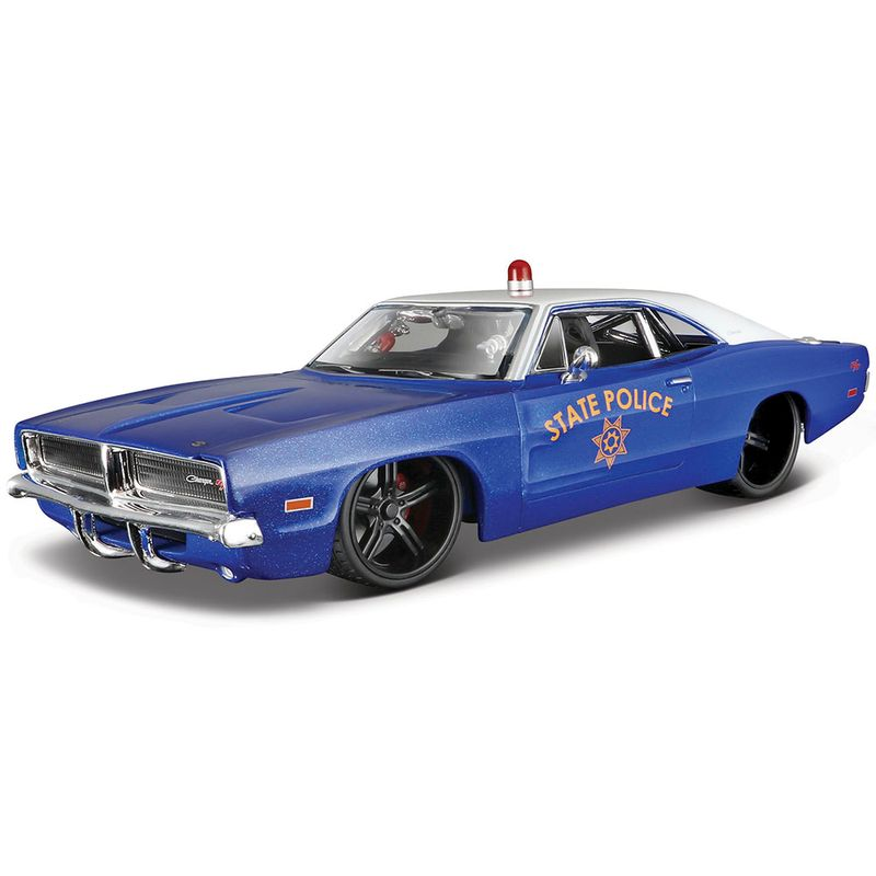carro-coleccion-1969-dodge-charger-rt-state-police-maisto-32519