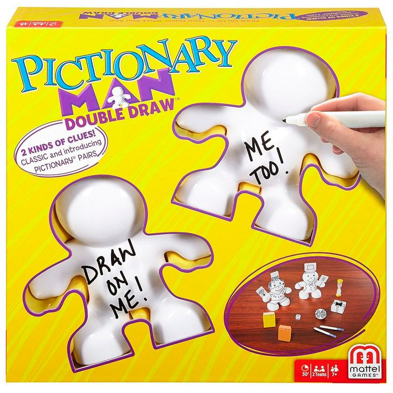 Juego De Mesa Pictionary Man Double Draw Mattel Miscelandia