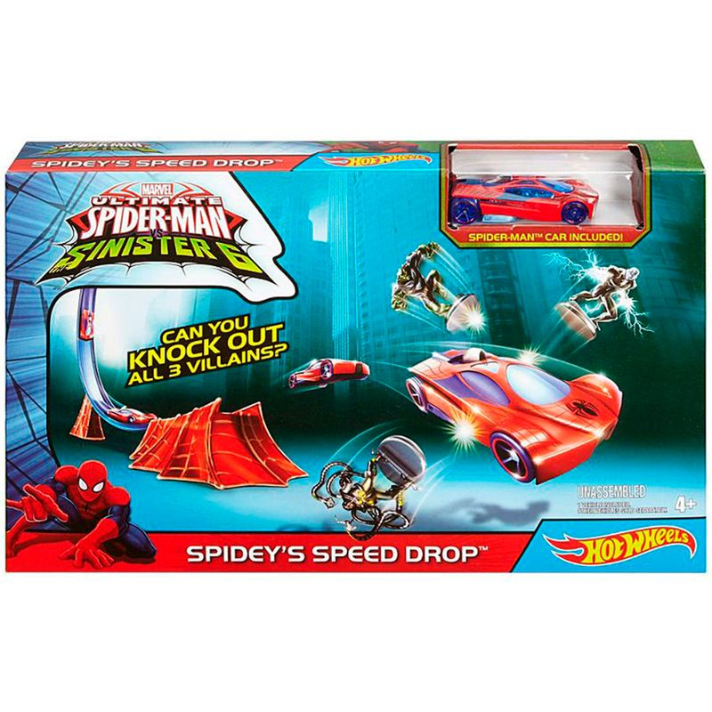 pista-hot-wheels-spideys-speed-drop-mattel-dkt28