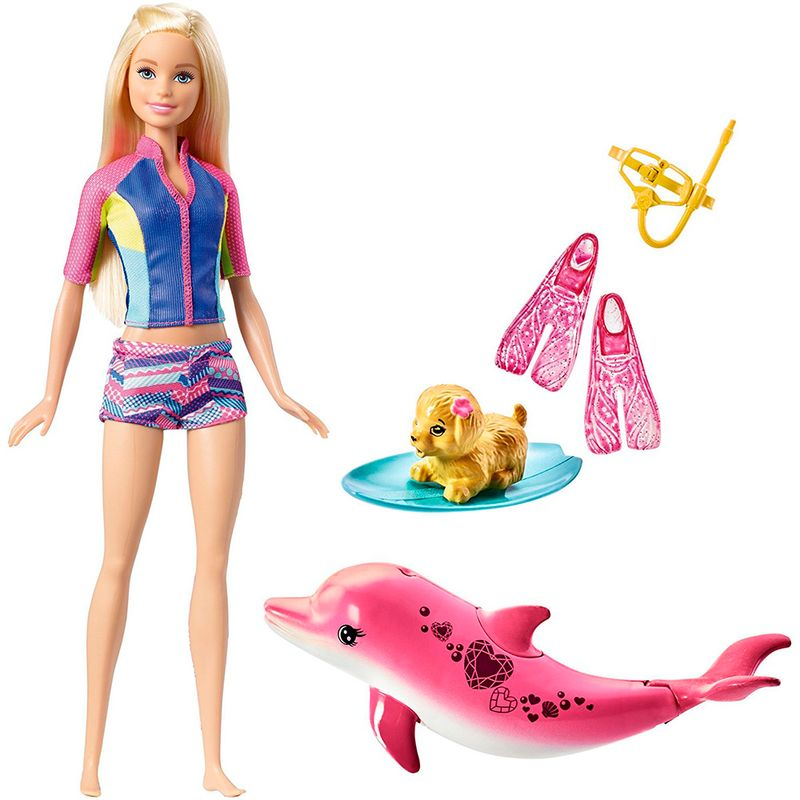 muneca-barbie-dolphin-magic-snorkel-fun-friends-mattel-fbd63