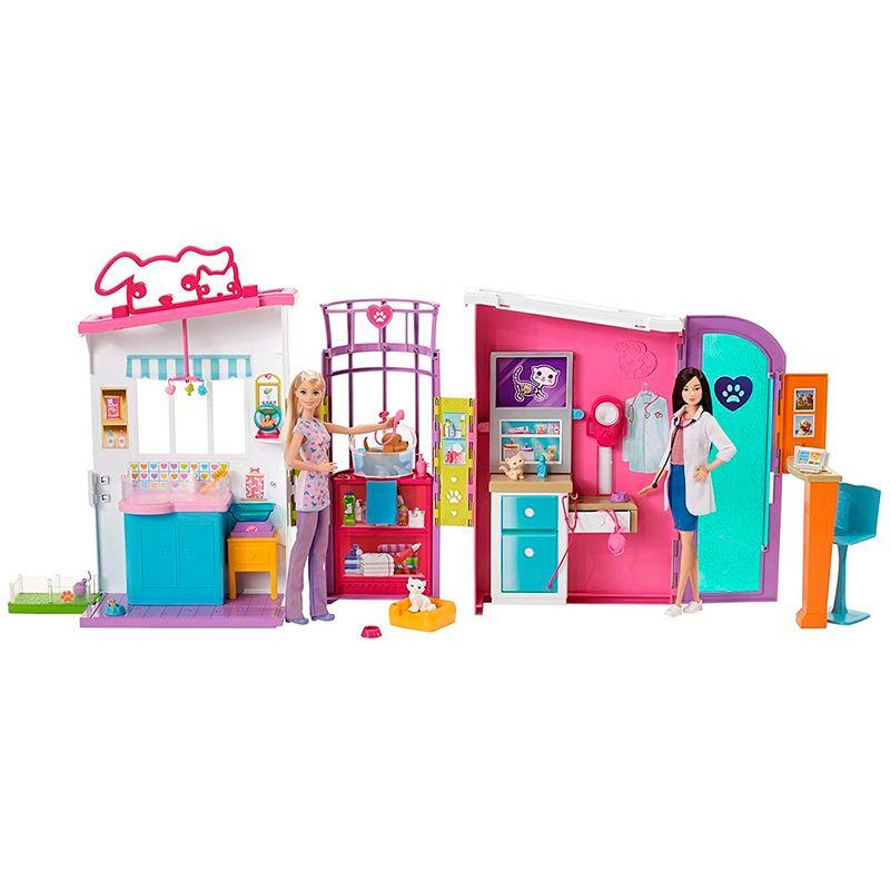 muneca-barbie-centro-de-cuidado-para-mascotas-mattel-fbr36