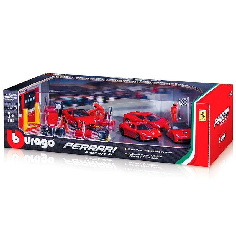 set-equipo-ferrari-y-vehiculos-bburago-1831214
