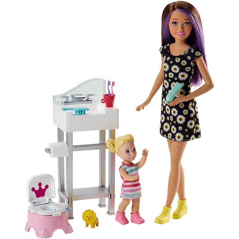 muneca-barbie-ninera-mattel-FJB01