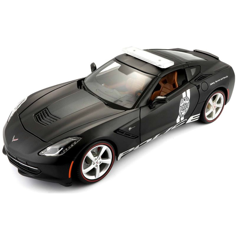 carro-coleccion-2014-corvette-stingray-police-black-maisto-36212