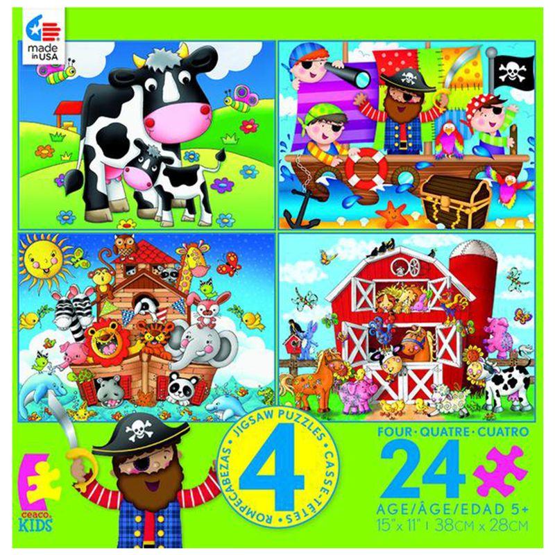 rompecabezas-4-en-1-24-piezas-vacas-piratas-arca-granja-ceaco-cea31042