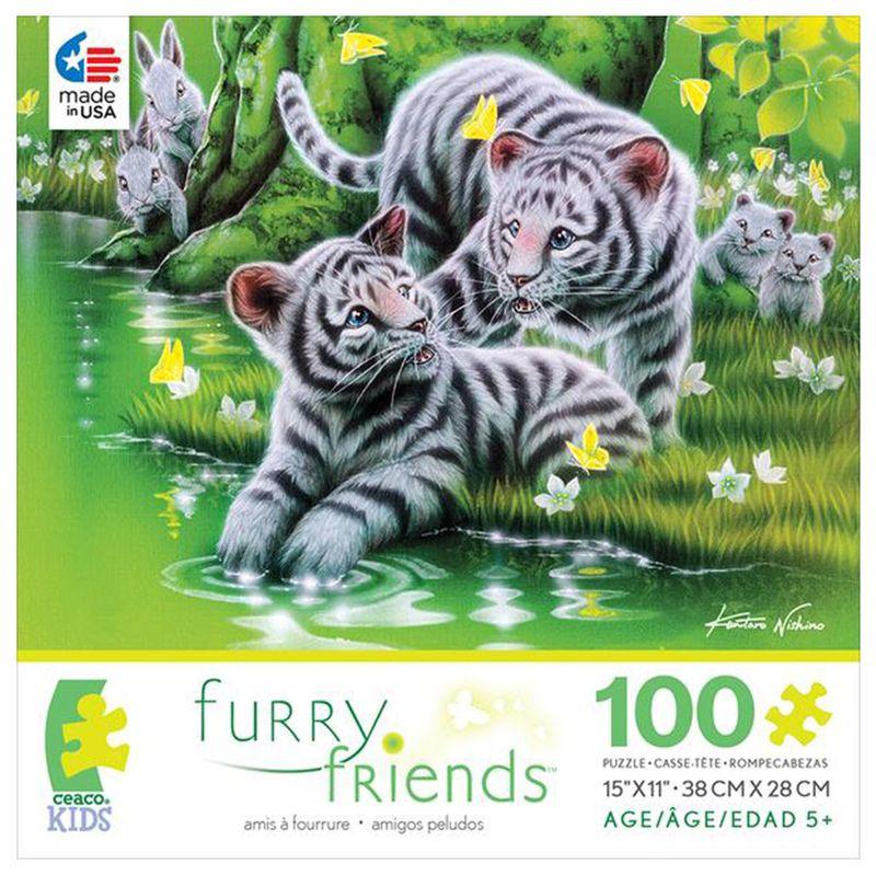 rompecabezas-100-piezas-furry-friends-tigres-blancos-ceaco-cea16536