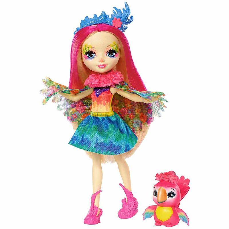 muneca-enchantimals-peeki-parrot-y-sheeny-mattel-fjj21