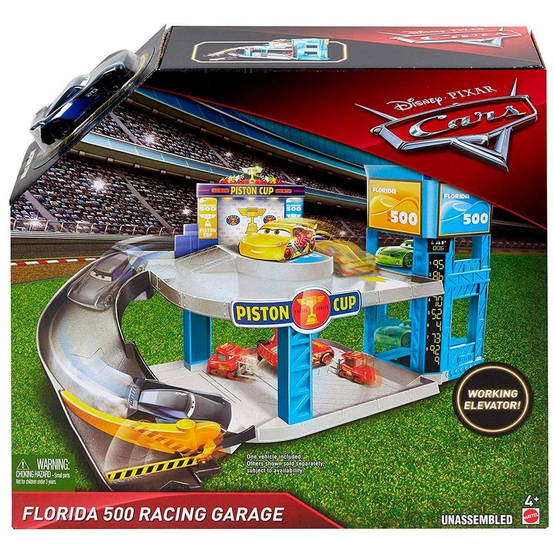 set-cars-garaje-florida-500-racing-mattel-fwl70