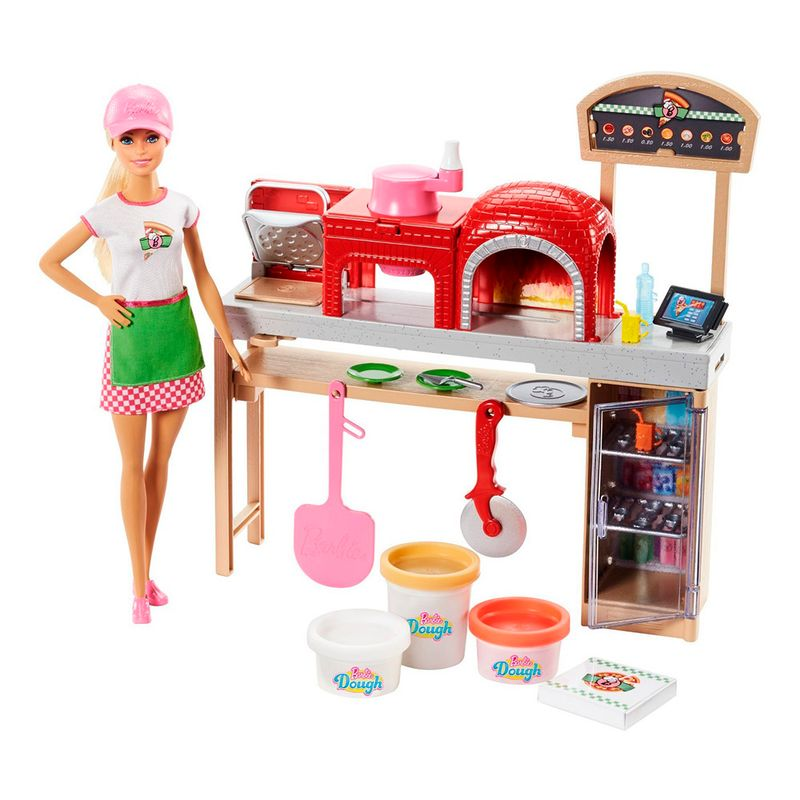 set-muneca-barbie-pizzera-mattel-fhr09