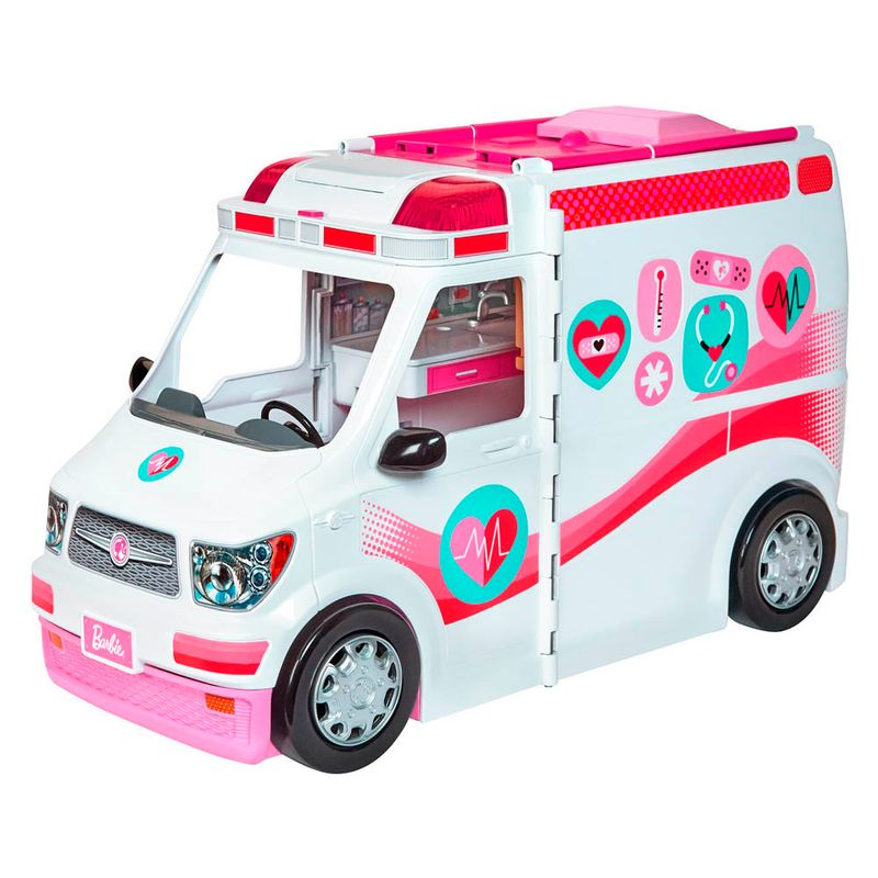 set-barbie-ambulancia-y-hospital-movil-mattel-frm19