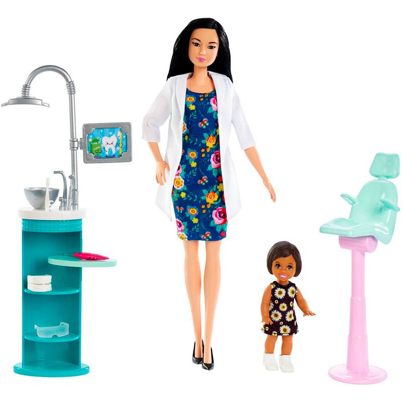 set-muneca-barbie-dentista-mattel-fxp17