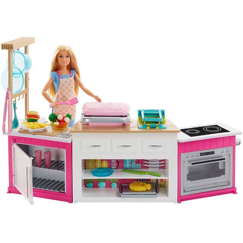 set-muneca-barbie-cocina-mattel-224555