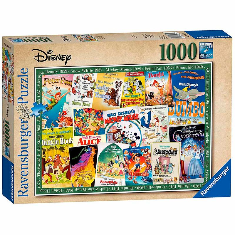 rompecabezas-1000-pcs-disney-vintage-movie-posters-ravensburger-226606