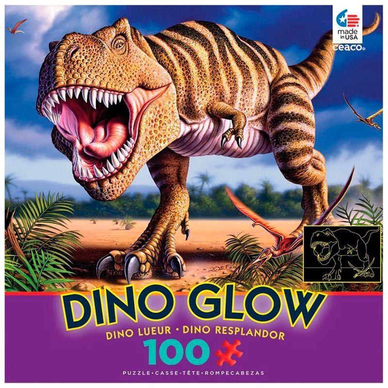 rompecabezas-x-100-pcs-t-rex-dino-glow-ceaco-cea160421