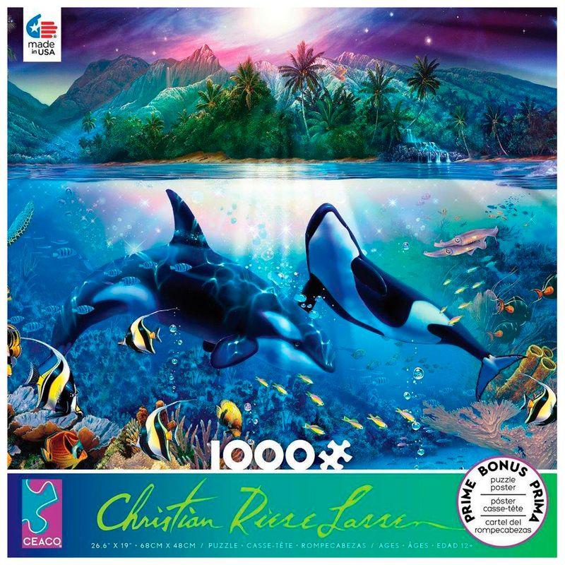 rompecabezas-x-100-pcs-christian-riese-lassen-harmonious-orcas-2-ceaco-cea33885