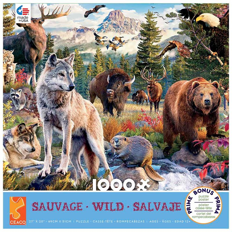 rompecabezas-x-1000-pcs-pw-wild-american-animals-ceaco-cea33933