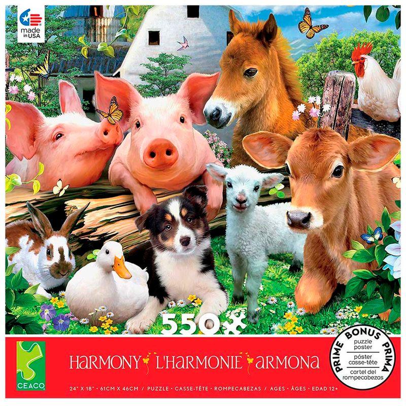 rompecabezas-x-550-pcs-harmony-farm-friends-ceaco-cea236833