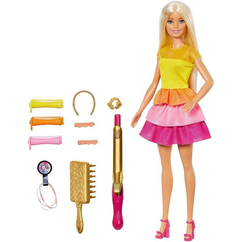 muneca-barbie-rizos-mattel-gbk24
